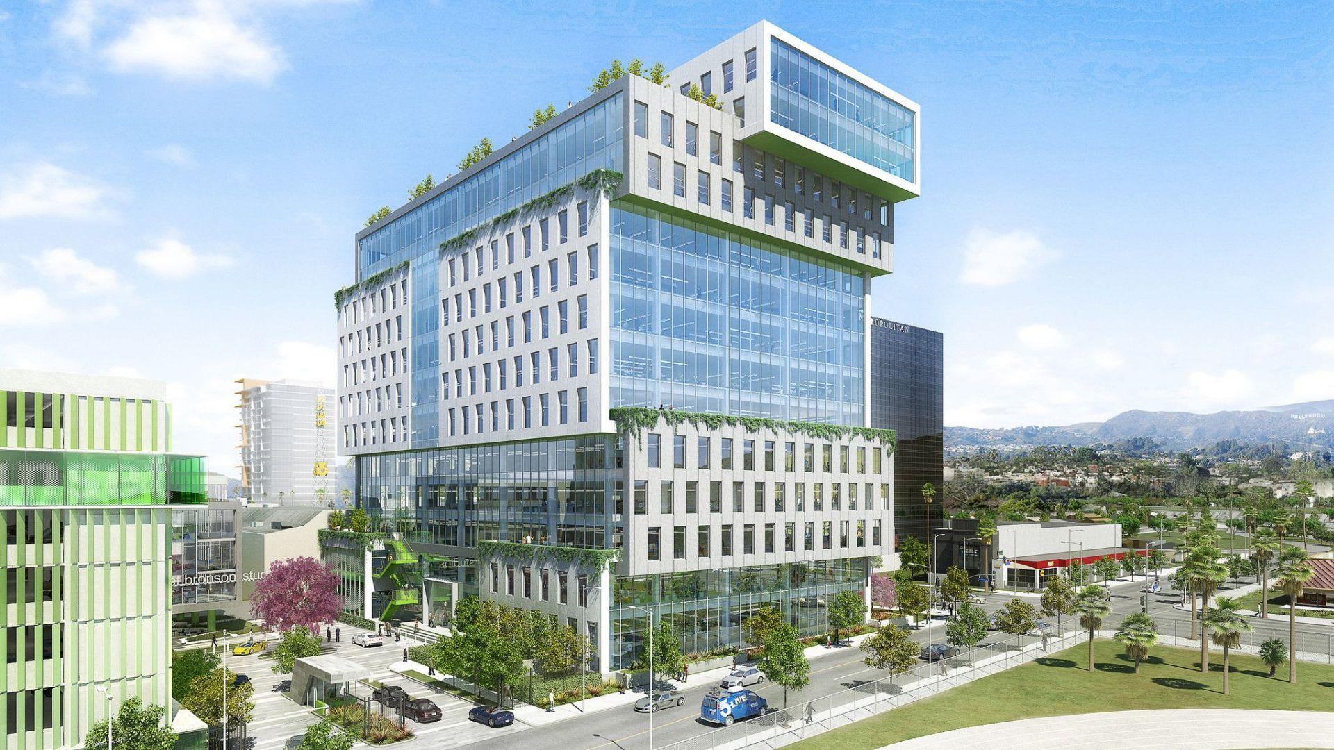 Integrated Solar Panels For Netflix Building