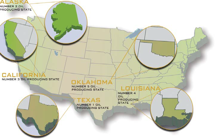 Where Is Oil Found In USA